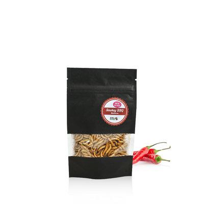 Gevriesdroogde Meelwormen Smokey BBQ 13 gram