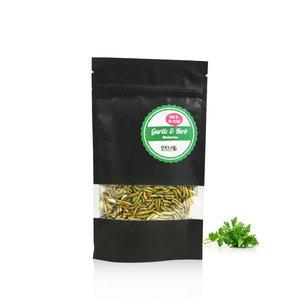 Gevriesdroogde Meelwormen Garlic&Herbs 40 gram
