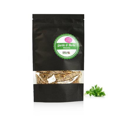 Gevriesdroogde Meelwormen Garlic&Herbs 70 gram