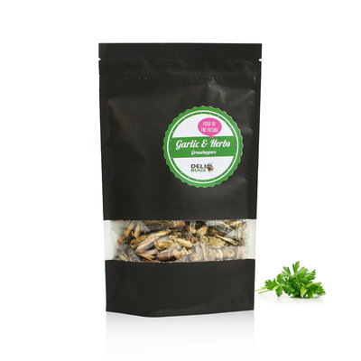 Gevriesdroogde Sprinkhanen Garlic&Herbs 40 gram