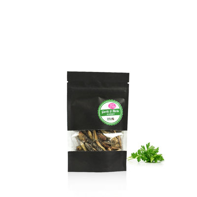 Gevriesdroogde Sprinkhanen Garlic&Herbs 9 gram