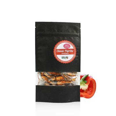 Gevriesdroogde Sprinkhanen Classic Paprika 20 gram