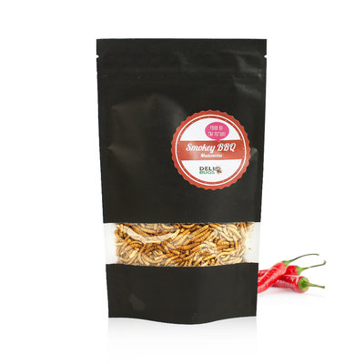 Gevriesdroogde Meelwormen Smokey BBQ 70 gram