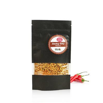 Gevriesdroogde Meelwormen Smokey BBQ 40 gram